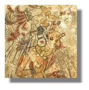 Mayan Mural _Shaman _Warrior_ King_ Diety